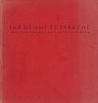 Cover des Gedichtbandes 'Ihr nennt es Sprache' von 1962