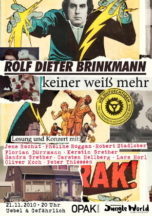Brinkmann-Lesung in Berlin