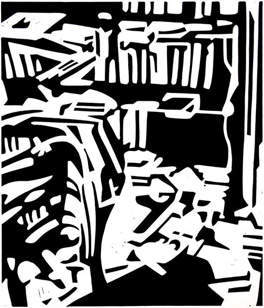 Zimmer mit Büchern