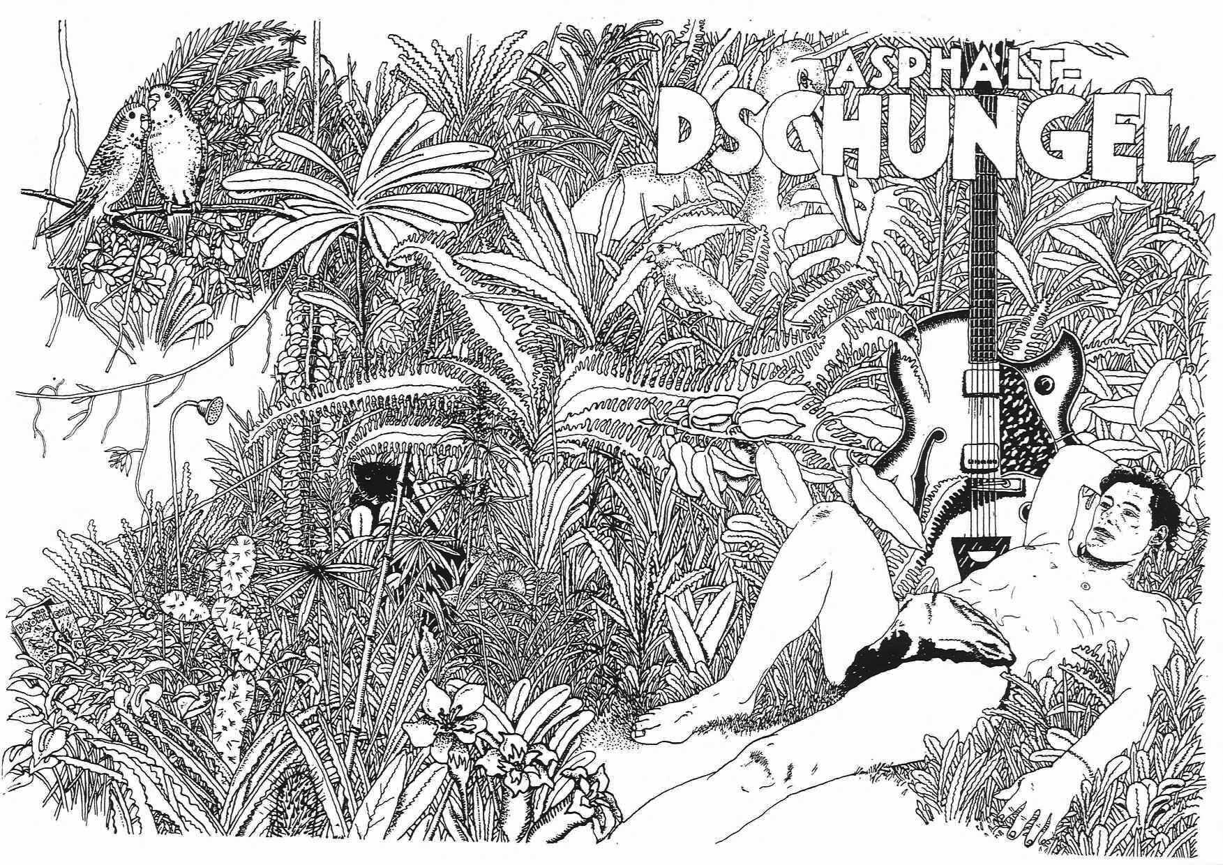 Thomas Hornemann, Tusche auf Papier, 1972/1974 (Umschlagentwurf)