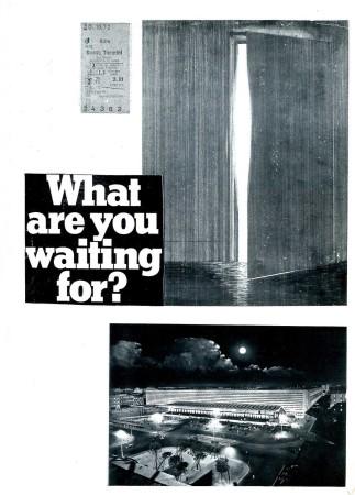 """Die erste Seite aus Rolf Dieter Brinkmanns Rom, Blicke (verfasst 1972/73, EA 1979) mit der Bleistiftzeichnung """"Tür"""" (1972) von Günther Knipp (*1935)."""