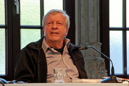 Axel Kutsch im Kölner Literaturhaus (2015) // Foto: Roberto Di Bella