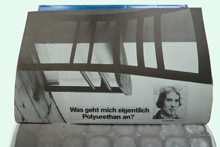 Collage von Walter Aue (?) in dem von ihm herausgegebenen Band typos 2 Selbst/Kenntnisse (1972)
