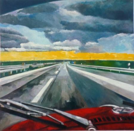 1976, Öl auf Leinwand, 100 x 100 cm