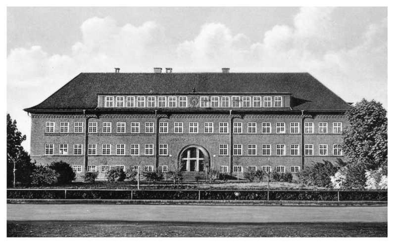 Staatliches Gymnasium Antonianum Vechta i.O., Aufnahme um 1950. Quelle: Heimatbibliothek Vechta