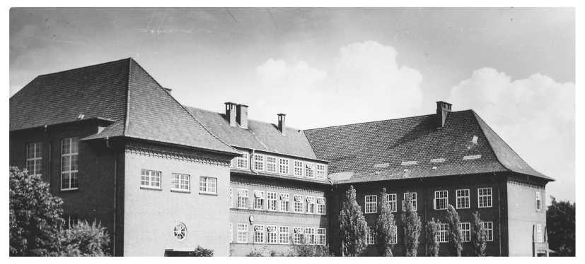 Gymnasium Antonianum (Rückseite), Aufnahme um 1950. Quelle: Heimatbibliothek Vechta