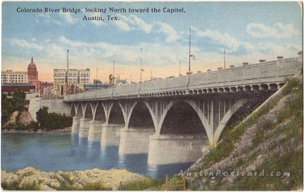 Austin_Colorado River Bridge, looking north toward Capitol