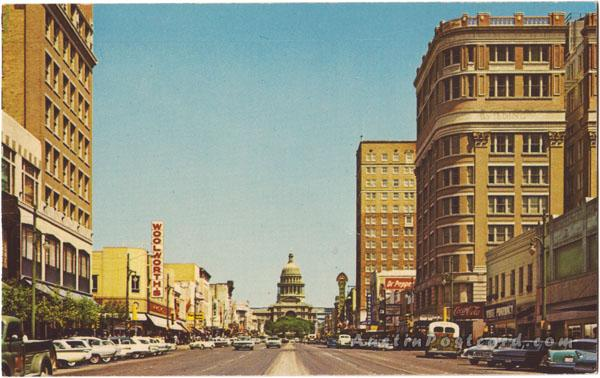 Austin_Congress Avenue looking toward the Texas Capitol (circa 1965)