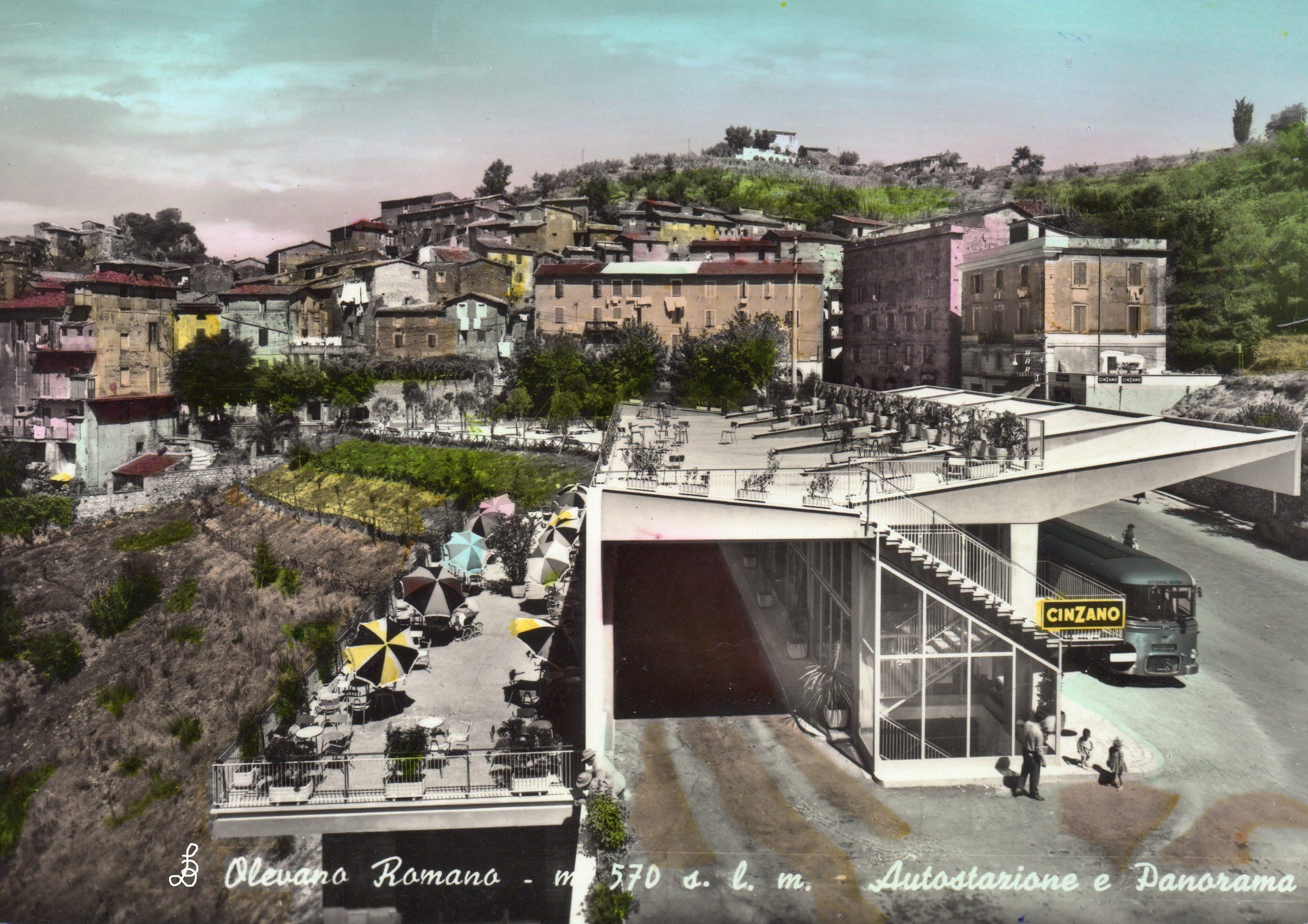 Busbahnhof von Olevano Romano