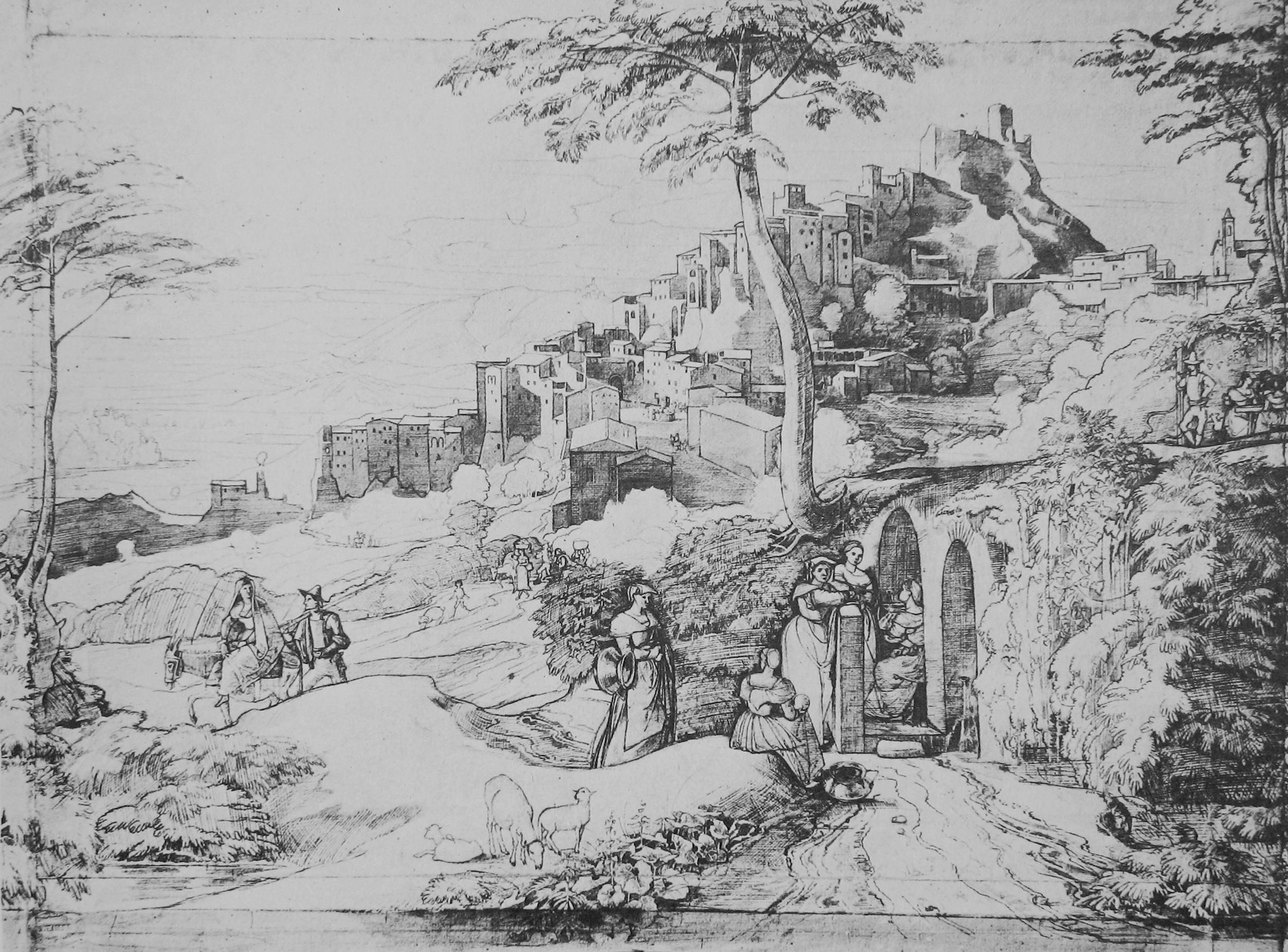 Olevano_Brunnen_Horny_1822