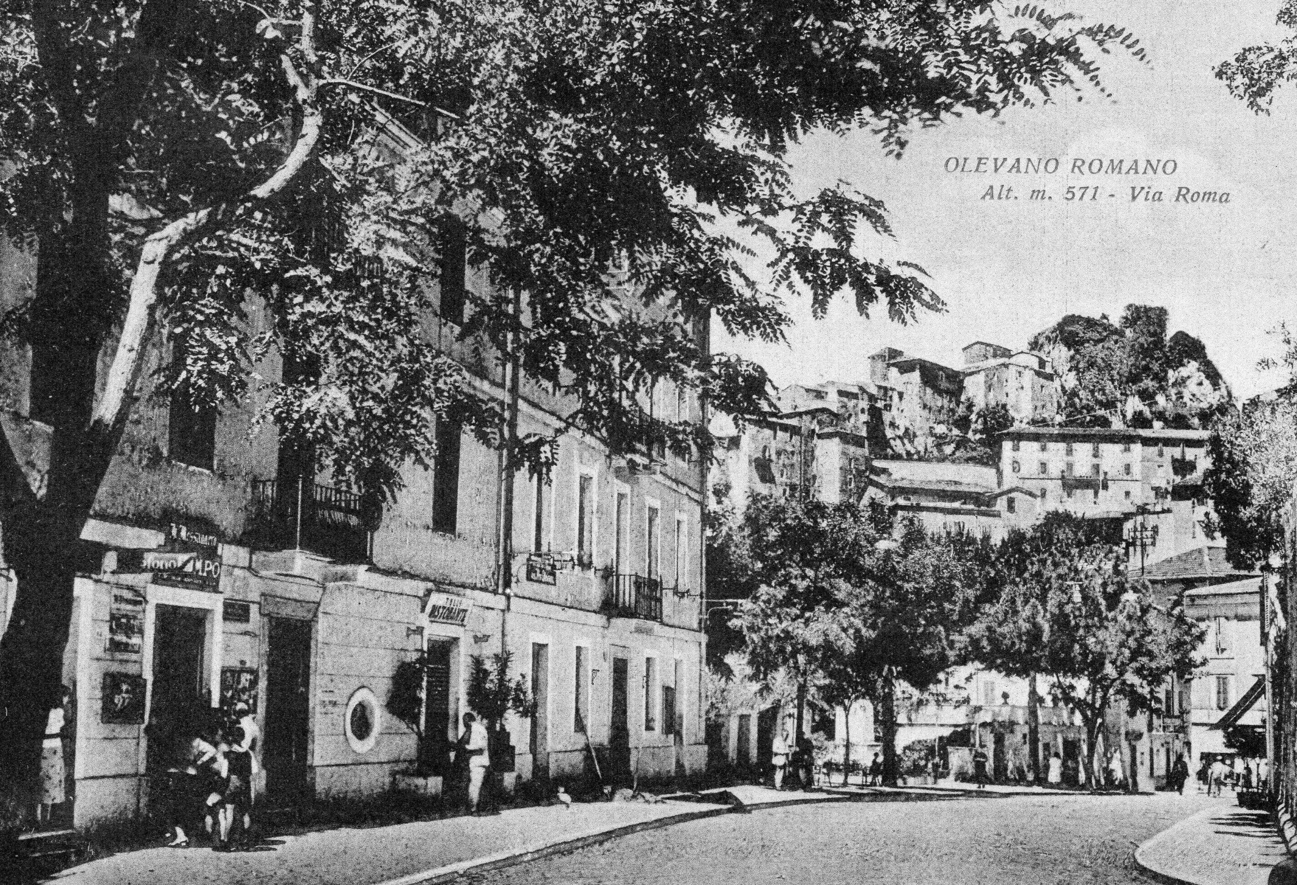 Postkarte Olevano - Via Roma