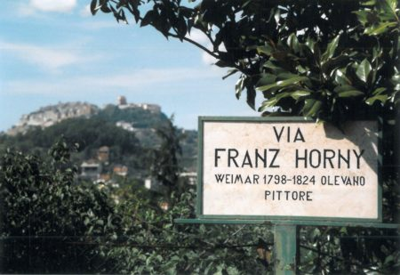 Straßenschild Olevano - Di Bella